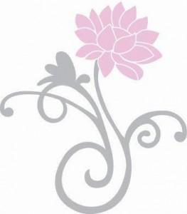 Beeldmerk Lotus Living klein